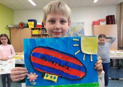 Auch Felix hat ein eigenes 3D-Bild hergestellt. Darauf sieht man einen Köllerholz-Zeppelin.